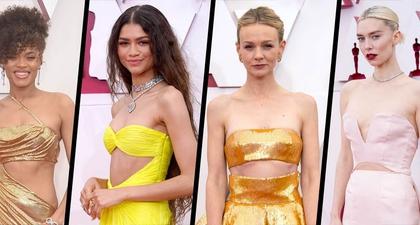 Model Gaun Cut-Out di Perut adalah Tren Tak Terduga dari Penampilan Karpet Merah Oscar 2021