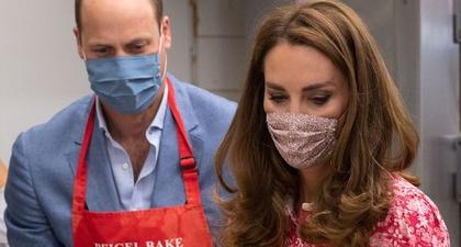 Kate Middleton Pakai Gaun Merah Floral Kunjungi Toko Roti