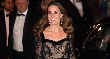 Kate Middleton Tampil Memukau Dalam Balutan Gaun Hitam