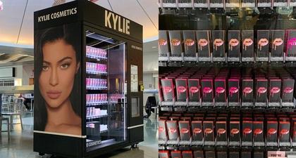 Lihat Vending Machine Kylie Cosmetics di Bandara Las Vegas