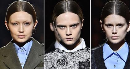 Supermodel Dunia Tampil Tanpa Alis di Fashion Show Prada